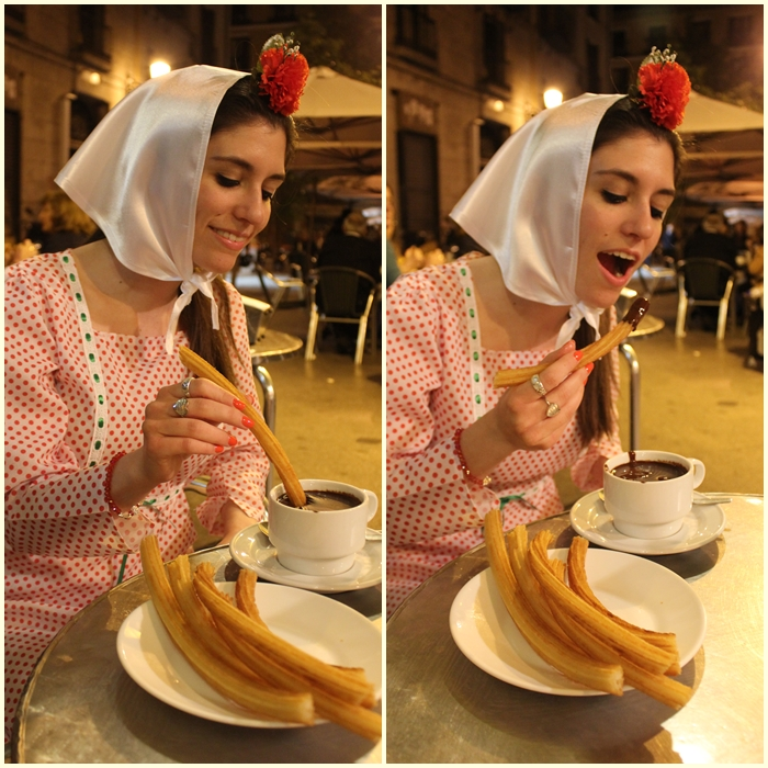 diana dazzling, fashion blogger, fashion blog, cmgvb, como me gusta vivir bien, dazzling, luxury,san Isidro, Madrid, bocata de calamares,chulapa,chulapos,churros con chocolate,spanish tradition,spanish food