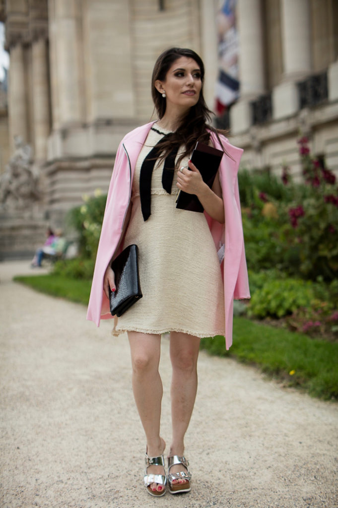 chanel haut couture fw 16-17 grand palais street style